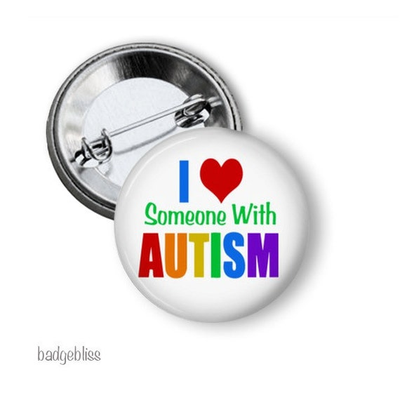 Set Of 4 Autism Awareness 2.25 Pinback Buttons Or Fridge Magnets Autistic Pin Autistic Magnet Set Autistic Gifts Autistic Pride