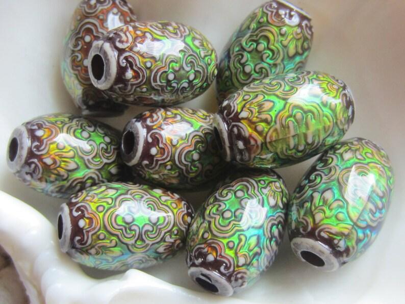 RESTOCKED Mood Bead Polymer Clay Bead Heat Sensitive Bead PERSIAN BEAUTY 13mm x 21.5mm Barrel 1 Bead