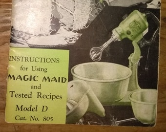 Vintage 1930s Fitzgerald Star-Rite Magic Maid Model-D Instruction Booklet