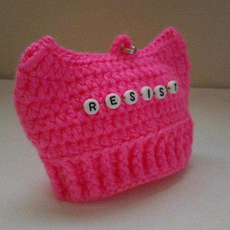 1e200a65155 Resist Pussy Hat Ornament Crochet Pussyhat Women s March