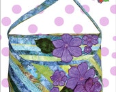 Annabella Bag Pattern, for large pieced and appliqued, beaded bag from Cool Cat Creations