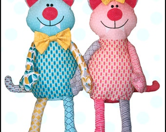 Cool Cat Pajama Bag  Paper Pattern for Hiding Pajamas or Other Treasures