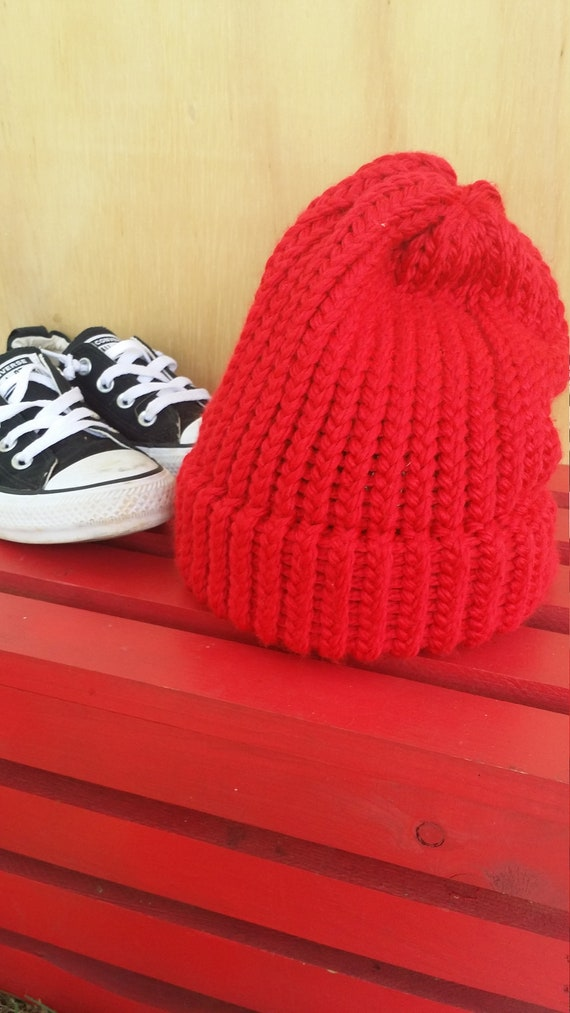 Zissou Inspired Beanie Red Knit Hat Life Aquatic with Steve  dd0dbd690cf