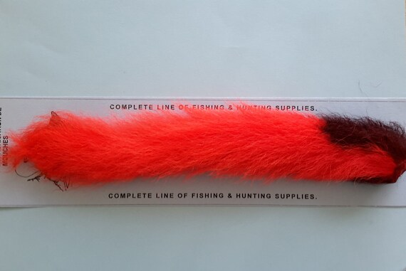 """CALF TAIL   /"""" FLUORESCENT PINK /""""     FLY TYING HAIRS"""