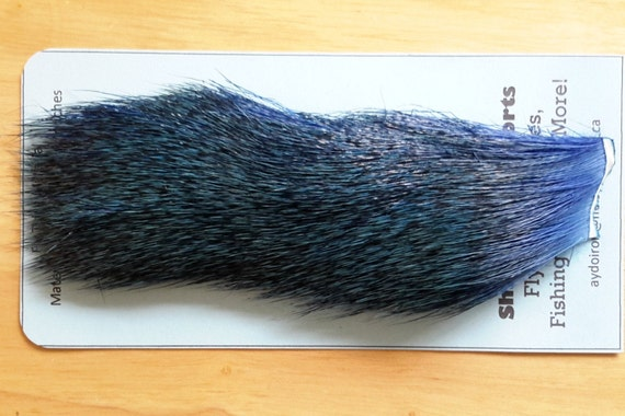 GrizzlePurple Whiting Bronze Full Saddle Feather Patch..........Colour Fly Tying Feather