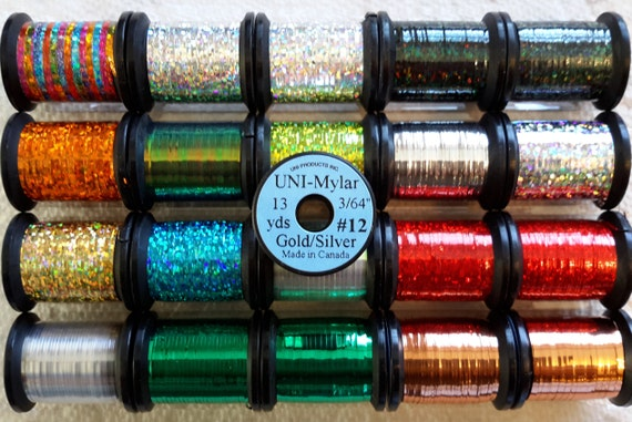 Tinsel />/>Uni-Products/</< ..Starter Kit #1.... Fly Tying Craft Feather Floss