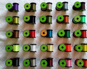 Fly Tying Uni-Thread  (20) Spools Combo.....You-Choose Colors......Size 8/0.....50 yds. per each spool