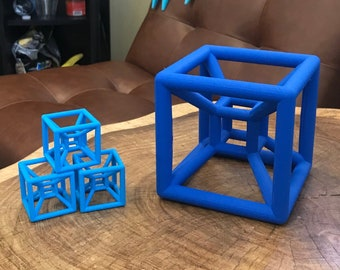 HUGE - Extra Large Hypercube Tesseract 3D Printed 4D Shape Math Gift and Learning Tool