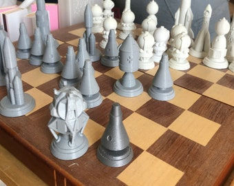 Space Race Chess Set
