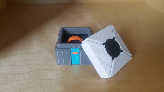 Overwatch Loot Box Ring Box 3D Printed Proposal Ring Box or Ring Bearer Wedding Ring Box