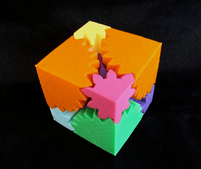 Mechanical Toy Gear Cube 3D Printed image 0
