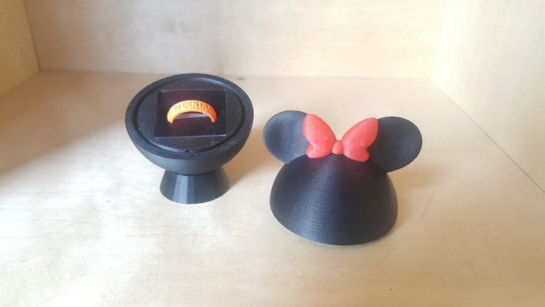 Minnie Mouse Ring Box 3D Printed Wedding Ring Box or Ring image 0