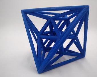 24-Cell Hyperdiamond 3D Printed 4 Dimensional Shape