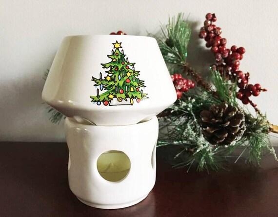 Vintage Christmas Potpourri Simmer Pot Aroma Therapy Ceramic Etsy