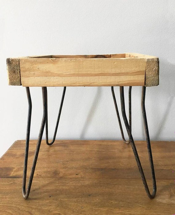 Remarkable Hairpin Metal Stool Legs Mid Century Small Bench Plant Stand Frame Diy Unfinished Furniture 50S Retro Decor Ibusinesslaw Wood Chair Design Ideas Ibusinesslaworg