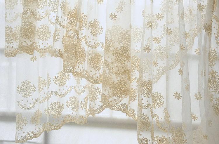 tela de encaje tul crema con patrones de flores retro encaje   Etsy