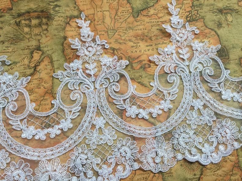 scalloped lace trim with scallops alencon lace trim black cord Lace Trim