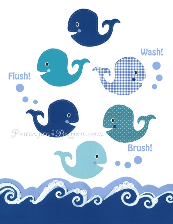 Kids Whale Bathroom Decor Unique Decoration