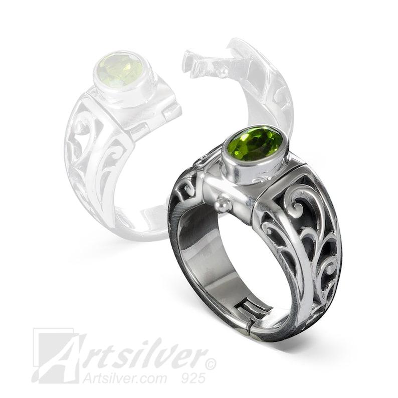 Arthritis Rings Expandable Filigree Ring  Hinged Shank Ring image 0