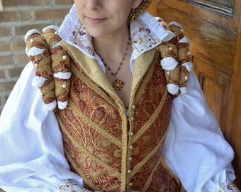 Ladies' Italian Embroidered White Cotton Partlet Blouse