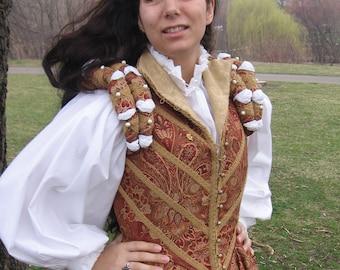 Ladies' Elizabethan White Cotton Partlet Blouse