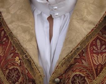 Ladies' Elizabethan White Linen Partlet Blouse