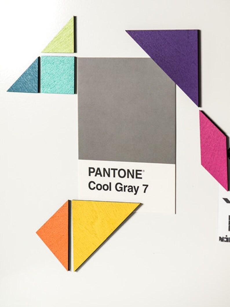 Tangram magnet set color
