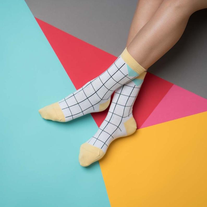 nice socks grid yellow