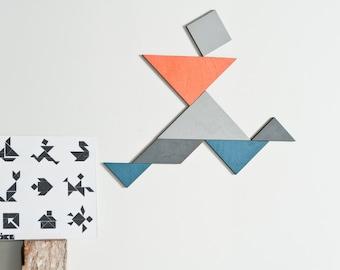 Tangram magnet set