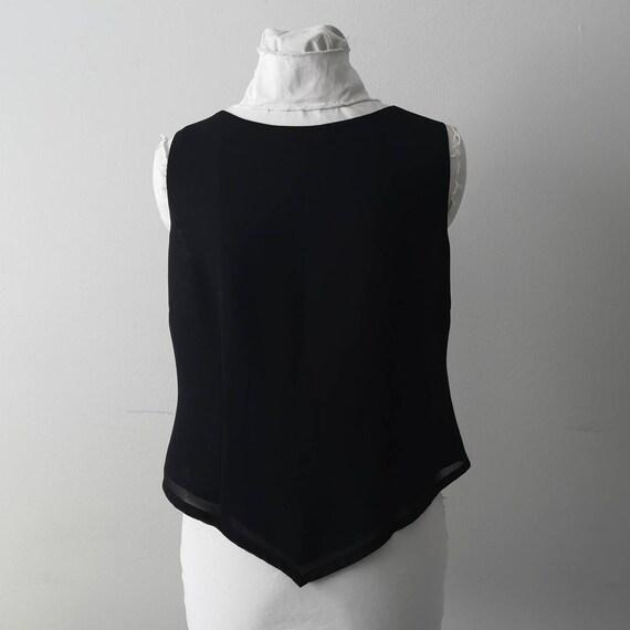 Minimalist black 90's vintage top