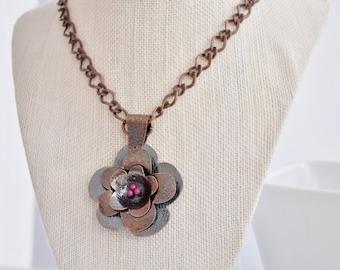 Copper Flower Necklace