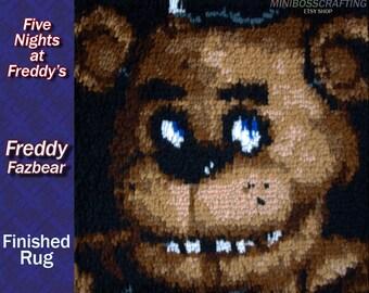 "Finished Latch Hook - Five Nights at Freddy's: Freddy Fazbear - 15.5*15.5"""