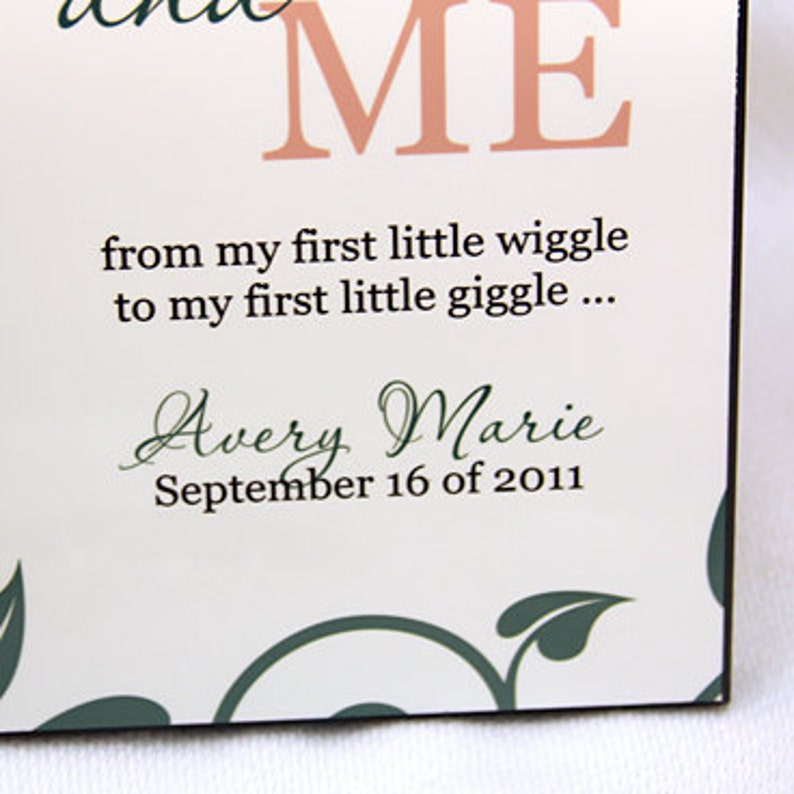 Mommy and Me New Mom Personalized Photo Frame for New Baby Add Name /& Birthday