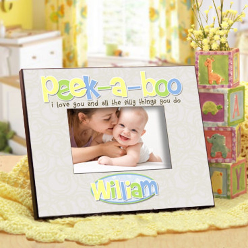 2268d6d79f4d Personalized Baby Photo Frame   Peek-a-Boo with