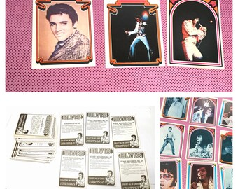 1978 Elvis facts trading Cards full set of 36 collectors cards, item no. M048