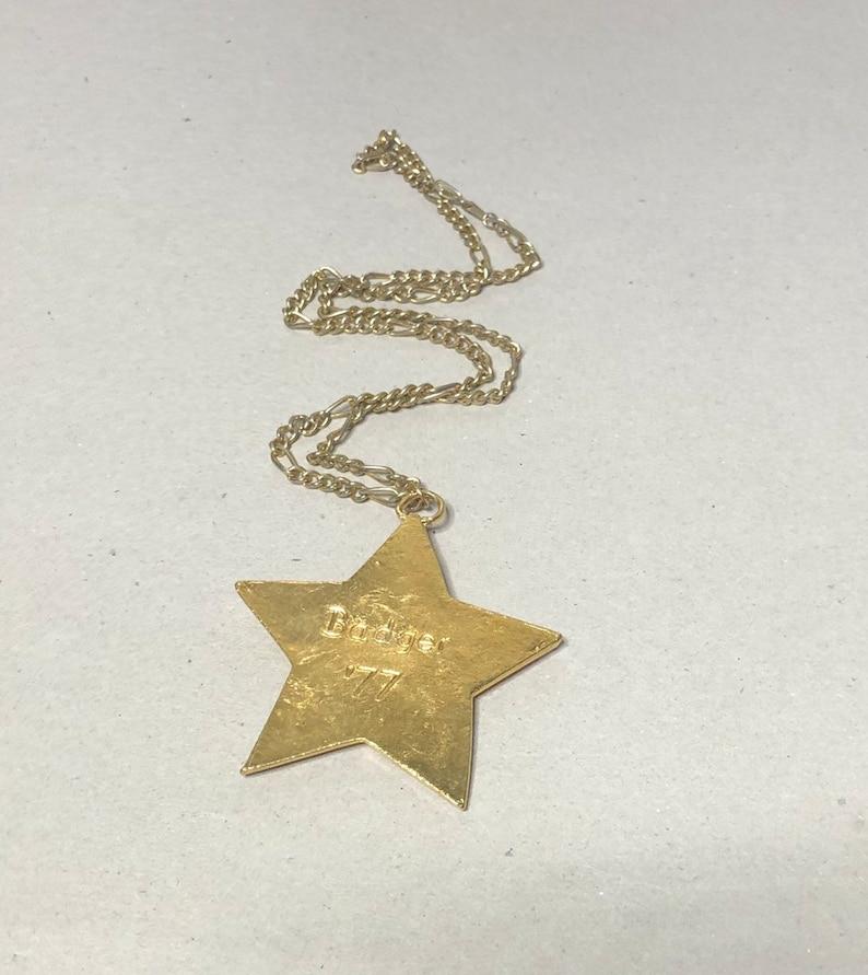 Large Star Pendant /&  Matching Necklace vintage Anniversary Sale Gold Tone Blue Enamel Item No B576