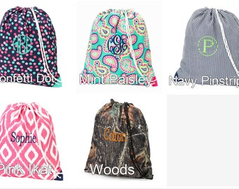 Monogrammed Gym Bag/Cinch Sack