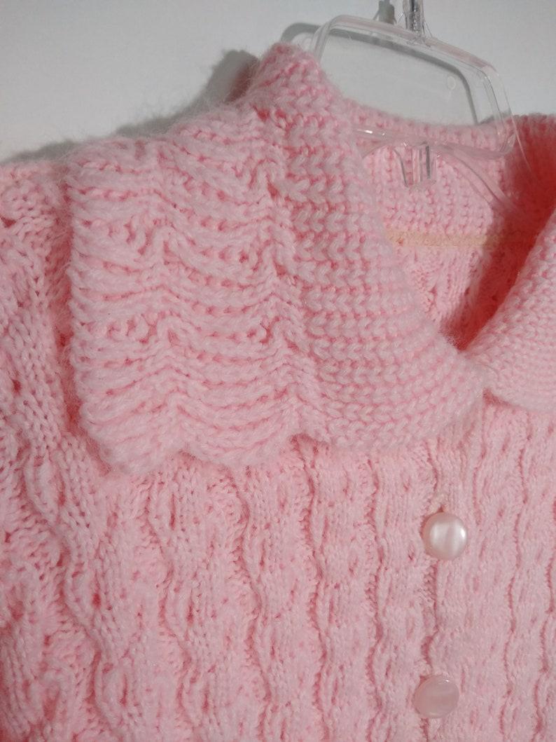 Vintage Handknit Pink Cardigan