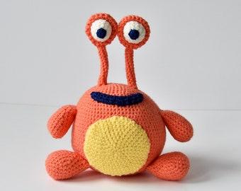 Monster Crochet Pattern, Alien Crochet Pattern, Cute Monster Amigurumi, Orange Monster Pattern, Crochet Monster Amigurumi Pattern, Crochet