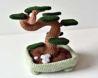 Bonsai Tree Crochet Pattern, Bonsai Tree Amigurumi, Bonsai Amigurumi, Plant Amigurumi Pattern, Amigurumi Plant Crochet Pattern, Home Decor