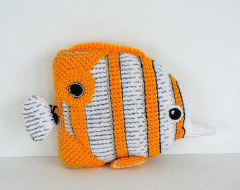 Copperplated Butterfly Fish Crochet Pattern, Fish Amigurumi Pattern, Copperplated Butterfly Fish Amigurumi, Tropical Fish Pattern