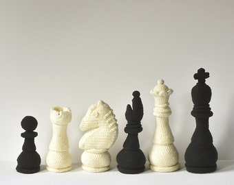 Chess Set Crochet Pattern, Chess Amigurumi, Chess Crochet Pattern, Chess Piece Crochet Pattern, Chess Piece Amigurumi, Crochet Chess Pieces