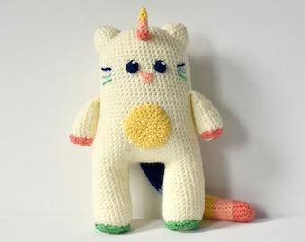 Unicorn Cat Crochet Pattern, Cat Crochet Pattern, Unicorn Cat Amigurumi, Cat Unicorn Amigurumi, Animal Crochet Pattern, Animal Amigurumi
