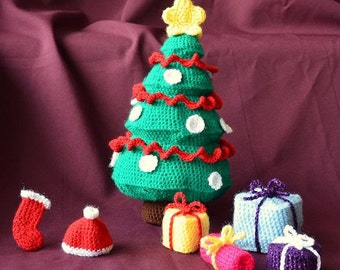 christmas tree crochet pattern gifts crochet pattern amigurumi christmas tree pattern amigurumi presents christmas crochet pattern - Snowman Christmas Tree Decorations