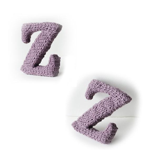 Letter Z Haakpatroon 3d Alfabet 3d Woorden Haakpatroon Etsy