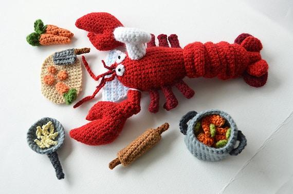 Lobster Chef Crochet Pattern Lobster Crochet Pattern Animal Etsy