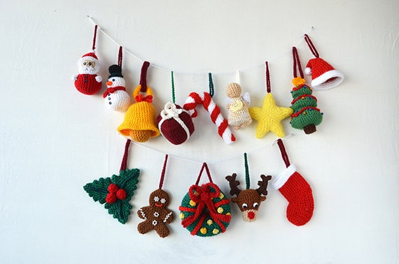 Christmas Ornaments Crochet Pattern 14 Christmas Tree Decorations