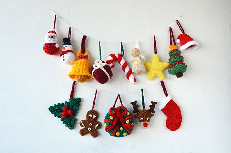 Christmas Ornaments Crochet Pattern 14 Christmas Tree Etsy