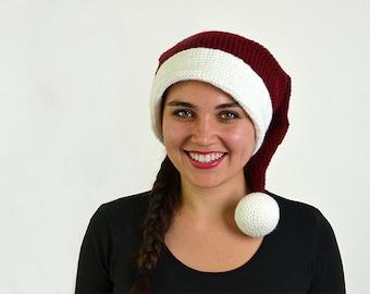 Christmas Hat Crochet Pattern, Santa Hat Crochet Pattern, Christmas Hat Crochet Pattern, Winter Crochet Pattern, Christmas Crochet Pattern