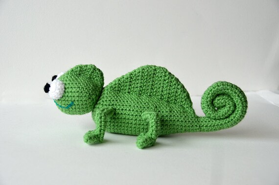 Chameleon Crochet Pattern Amigurumi Chameleon Pattern Etsy